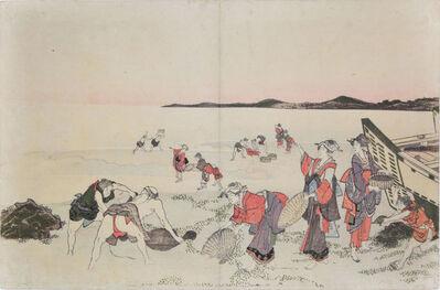 Katsushika Hokusai, 'Collecting Shellfish', ca. 1800