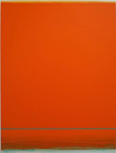Shingo Francis, 'Beyond the Periphery (orange-teal)', 2018
