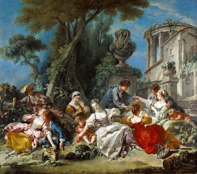 François Boucher, 'The Bird Catchers', 1748