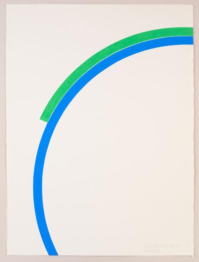 "Stephen Antonakos, '""Fragments of Two Circles"" April 1976', 1976"