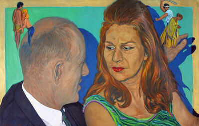John Valadez, 'The Conversation', 1991