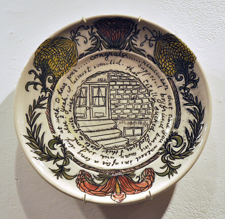 Heather Ossandon, 'Commemorative Plates of Shitty Things: The Break Ups-Nik', 2014
