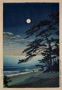Kawase Hasui, 'Spring Moon over Ninomiya Beach', 1932