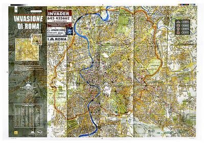 Invader, 'INVASION DI ROMA (Invasion Of Rome Map) SIGNED PRINT', 2010