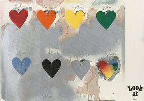 Jim Dine, '8 hearts / look', 1970