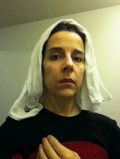 """Nina Katchadourian, 'Lavatory Self-Portrait in the Flemish Style #14 (""""Seat Assignment"""" project, 2010--ongoing)', 2011"""