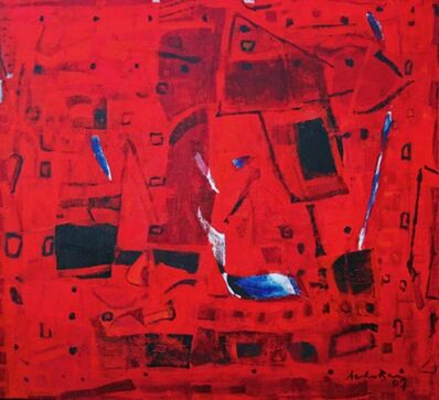 Achuthan Kudallur, 'Untitled (Red Abstract)', 2007