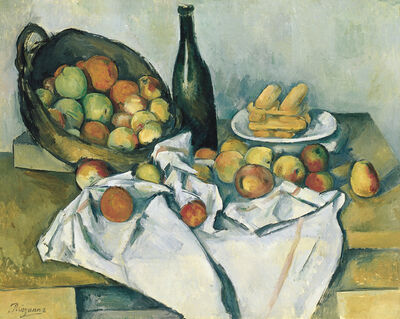 Paul Cézanne, 'Still life with basket of apples', 1890-1894