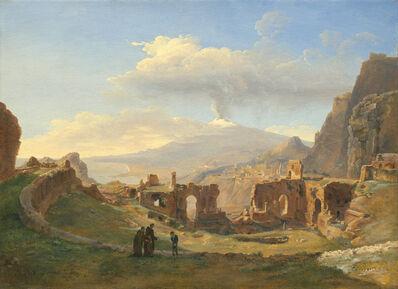 Louise-Joséphine Sarazin de Belmont, 'The Roman Theater at Taormina', 1828