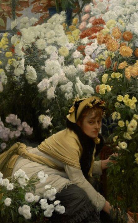 James Jacques-Joseph Tissot, 'Chrysanthemums', 1874-1876