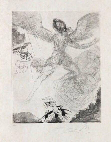 Salvador Dalí, 'Flight and Fall of Icarus', 1963