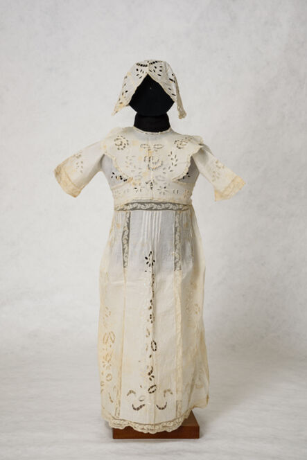 Unknown Designer, 'Dress, bonnet and bib, for girl's name giving ceremony, Ioannina.', 1926