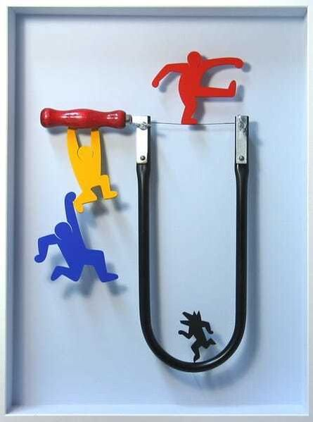 Volker Kühn, 'Homage to Keith Haring', 2021