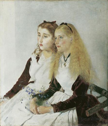 Anton Romako, 'The Artist's Nieces, Elizabeth and Maja', 1873