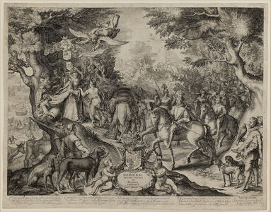 Jan Pietersz Saenredam, 'Allegory of the Flourishing State of the United Provinces.', 1602