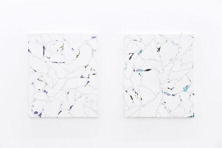 Pavel Büchler, 'Modern Paintings No. B52a-b(fili d'erba e fiori, Manchester, Luglio 2012)', 2012