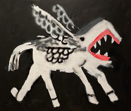 Robert Nava, 'Flying Bite (Shark Pegasus)', 2019