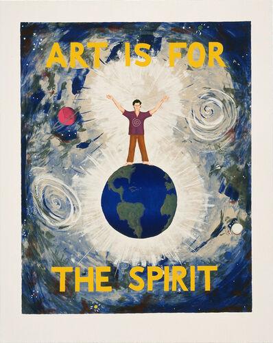 Jonathan Borofsky, 'Art is for the Spirit (State)', 1989