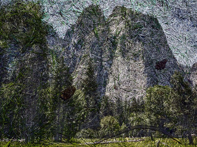 Abelardo Morell, 'Tent Camera Image on Ground: View of Cathedral Rocks from El Capitan Meadow, Yosemite National Park', 2012