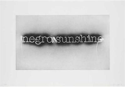 Glenn Ligon, 'Warm Broad Glow (reversed)', 2007