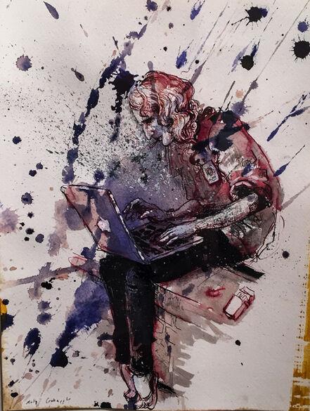 Molly Crabapple, 'Portrait of Alexa O'Brien', 2014