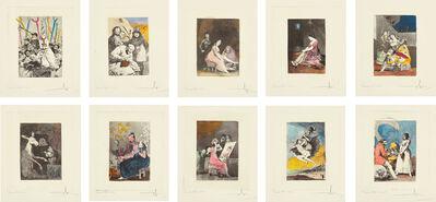 Salvador Dalí, 'Les Caprices de Goya de Dali (Dali's 'Caprichos' by Goya): 10 plates', 1977