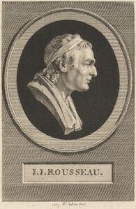 Augustin de Saint-Aubin after Jean-Antoine Houdon, 'Jean-Jacques Rousseau', 1801