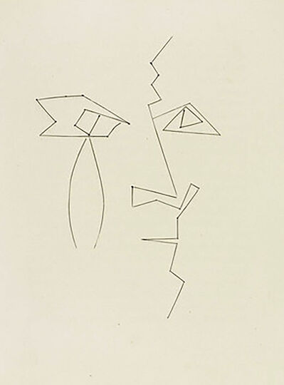 Pablo Picasso, 'Head of a Man in Broken Lines (Plate XXXIV)', 1949