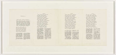 Irma Blank, 'Trascrizioni, Poem with comment I ', 1977