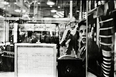 Frank Paulin, 'Movie Ticketseller, Times Square', 1957