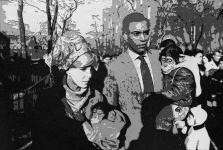 Vik Muniz, 'Couple Central Park Zoo, after Garry Winogrand (Pictures of Paper)', 2008