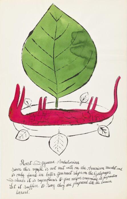 Andy Warhol, 'Roast Iguana, from Wild Raspberries (Feldman & Schellmann IV.136A)', 1959