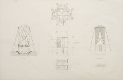 Mark Mack, 'Folly for Vitners in the Napa Valley, Construction Drawings', 1976