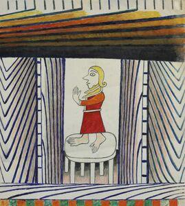 Martín Ramírez, 'Untitled (Woman in a Red Dress)', 1960-1963