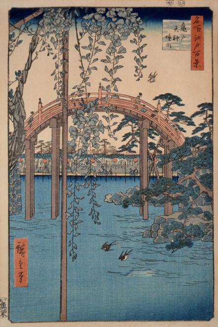 Utagawa Hiroshige (Andō Hiroshige), 'Tenjin Shrine at Kameido', 1856