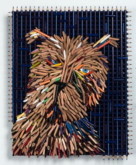 Federico Uribe, 'Dog Portrait, Brown Face', 2017