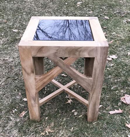 Munder-Skiles Garden Furniture, 'Two Emblem Side Tables'