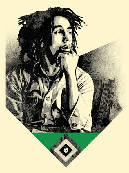Shepard Fairey, 'Bob Marley - Catch a fire (Green)', 2020