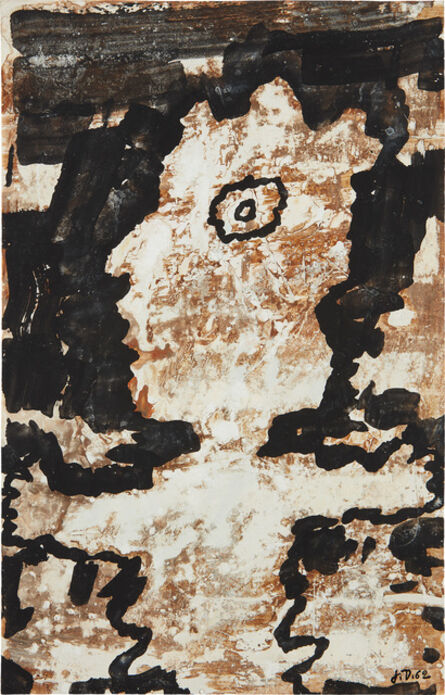 Jean Dubuffet, 'Personnage (mi corps)', 22719