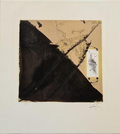 Antoni Tàpies, 'Noir et cartons', 1980