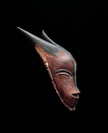 'Masque gu avec cornes (Gu Mask with horns)', 19th century