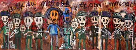 Aboudia, 'Untitled (Diptych)', 2011