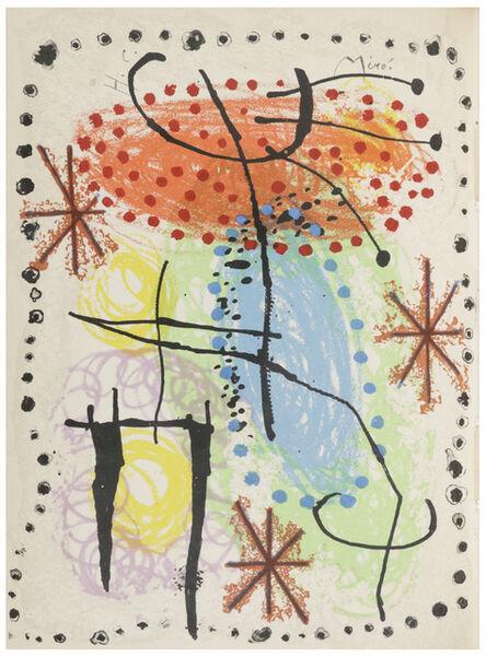 Joan Miró, 'LA RAME ET LA ROUE ', 1960