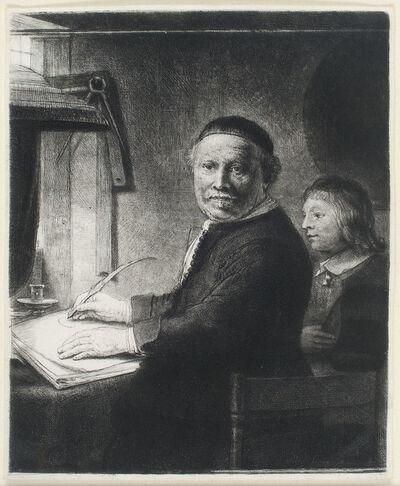 Rembrandt van Rijn, 'LIEVEN WILLEMSZ VAN COPPENOL, WRITING-MASTER: THE SMALLER PLATE', ca. 1658