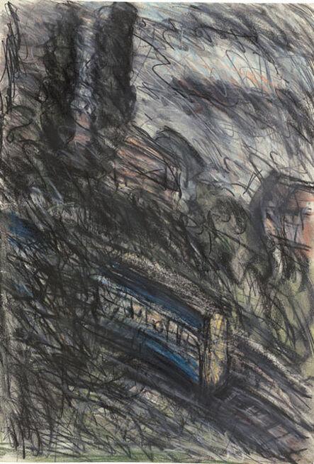 Leon Kossoff, 'Train by Night no. 1', 1990