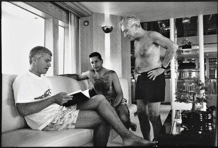 Jean Pigozzi, 'Larry Gagosian, Charles Saatchi and Leo Castelli, St. Barthelemy, 1991', 1991