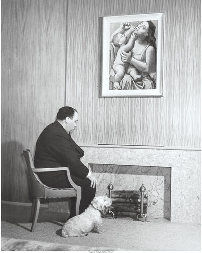 Peter Stackpole, 'Alfred Hitchcock, An Englishman spends a winter evening at home', 1939