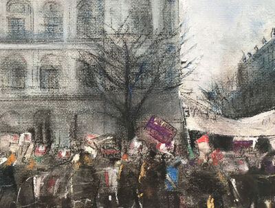 Oona Hassim, 'Leave Demo Downing Street', 2019
