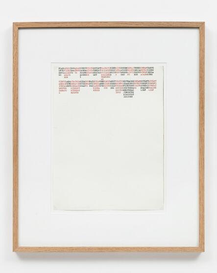 Carl Andre, 'PLANANEDIDOOAPARCIRCUMYSTESLULPTMAYESTIHIERRICHDOORWREMAITHEEGORNAMCARTO, YUCATAN', 1972