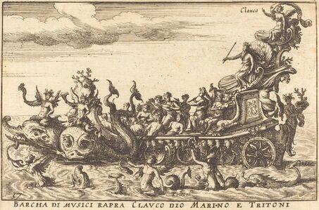 Balthasar Moncornet after Remigio Cantagallina, 'Barcha di musici rapra Clauco dio Marino e Tritoni'